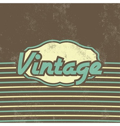Retro Template Design Vintage Background vector image