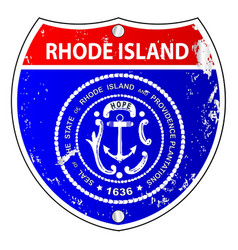 rhode island flag icons as interstate sign vector image