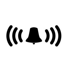 Ringing bell the black color icon vector