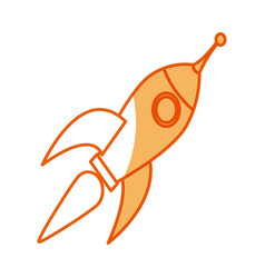 Rocket technology science creativity design vector