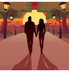 Romantic date in the evening vector