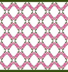 rose lattice pattern vector image
