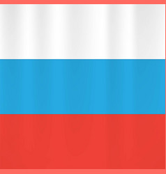 russian flag icon vector image