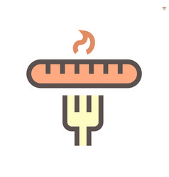 sausage and fork icon design for food graphic vector image