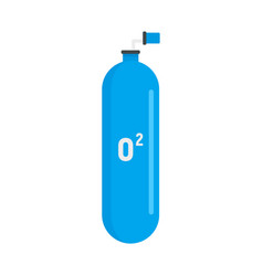 Scuba oxygen tank icon flat style vector