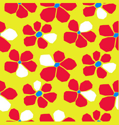 seamless bold bright cutout flower pattern vector image