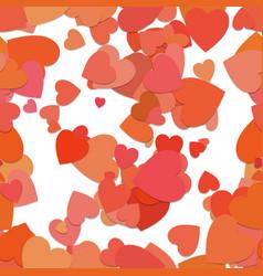 seamless random heart background pattern - design vector image