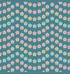 seamless repeat pattern of tropical flower vector image