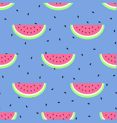 seamless simple pattern with watermelon vector image