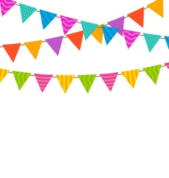 Set Colorful Buntings Flags Garlands vector image
