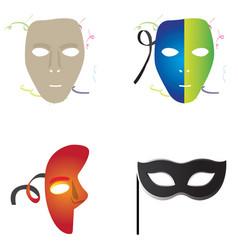 Set of carnival masks vector