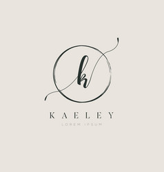 simple elegant initial letter type k logo sign vector image