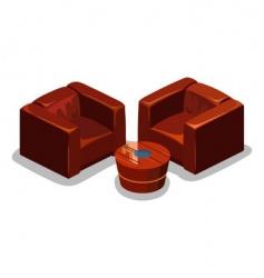 sofa set vector image