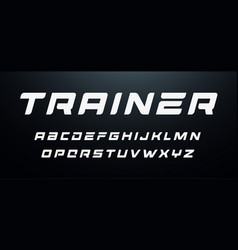 sport letters set dynamic bold italic style vector image