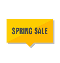 spring sale price tag vector image