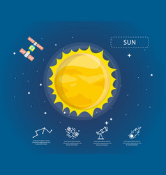 The sun infographic in universe concept vector