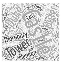 Thornbury Castle Word Cloud Concept vector