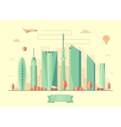 Tokyo skyline architecture design vector image