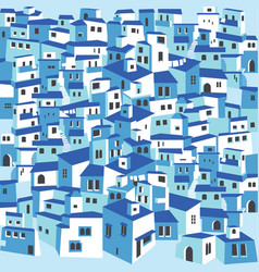 traditional greek island town village white houses vector image