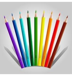 Varicolored pencil set vector image