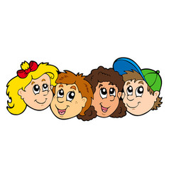various kids faces vector image