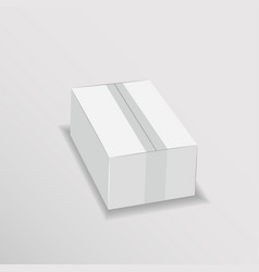 white cardboard box mock up vector image
