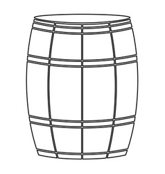 Wine or beer barrels black color path icon vector