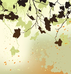autumn background ornament vector image vector image
