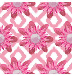 pink protea boho seamless pattern vector image vector image