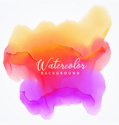 abstract watercolor stain background in bright vector image