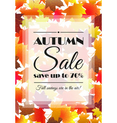 autumn sale poster flyer template vector image