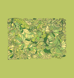 green spring doodle vector image