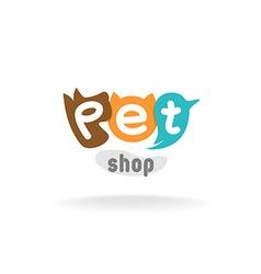 Pet shop logo template vector image