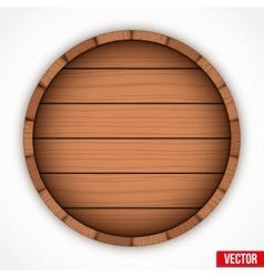 Set of wooden casks for alcohol drinks emblem vector image vector image
