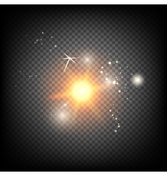 Shiny sunburst of sunbeams vector image