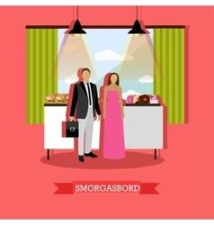 smorgasbord design element vector image