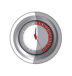 sticker silver screen timer counter vector image