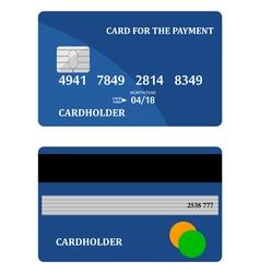 bank card vector image