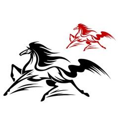 fast running stallion vector image vector image