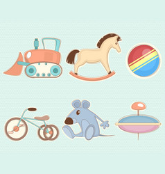 six toys set vector image vector image