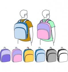 backpacks vector image vector image