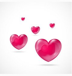 Glossy Red Heart Valentines Day vector image vector image