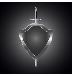 Metal swords and shield vector image