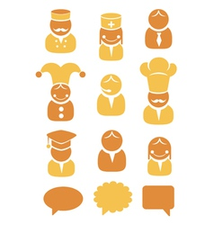 People occupation icons set vector image vector image