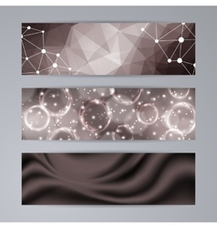 Set of templates for banners vector image
