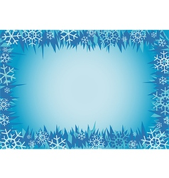 Winter decorative frame vector image