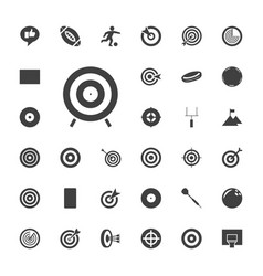 33 goal icons vector