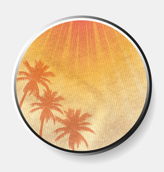 3d abstract summer print on crumbled material vector image