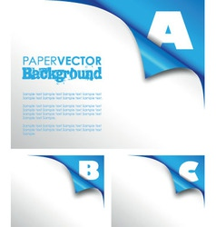 Abc paper fold vector