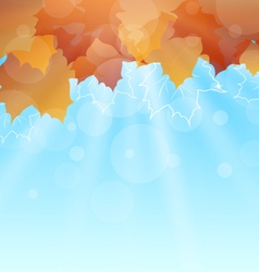 Abstract autumn background with leaves vector
